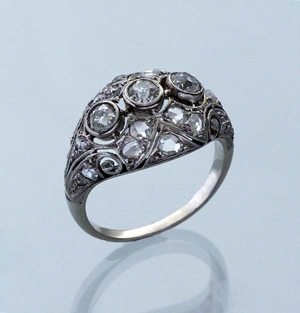 Art Déco-Diamant-Ring.