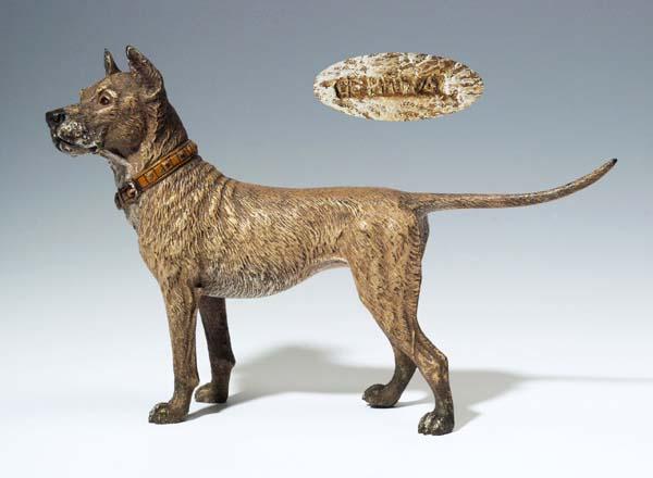Metallobjekte Antike Originale Vor 1945 Wiener Bronze Hund